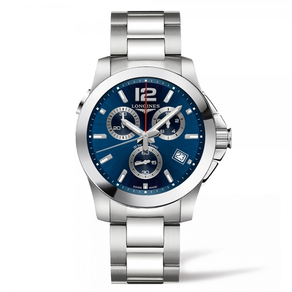 Conquest 41mm Blue Dial Chronograph