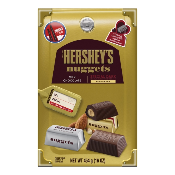 HERSHEY'S Nuggets Assortment (Milk Chocolate and Special Dark with Almonds), 454 g