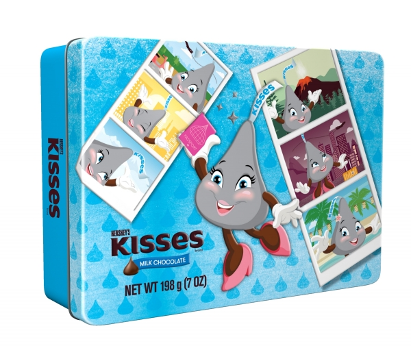 KISSES Milk Chocolate Tin 198g