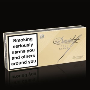 Davidoff Gold Slims 1 Ctn= 10 Pks, 200 cigg - Tobacco